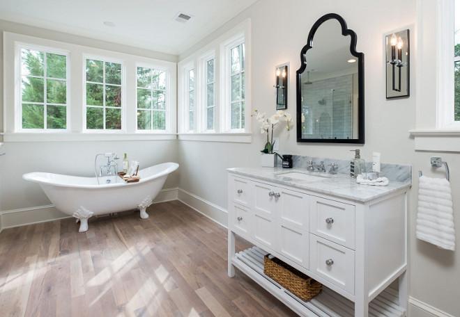 Benjamin Moore OC-46 Halo Grey White Bathroom Paint Color Benjamin Moore OC-46 Halo #BenjaminMooreOC46Halo