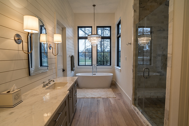 Shiplap Bathroom Bathroom with shiplap Bathroom shiplap accent wall #bathroomshiplap #bathroom #shiplap #shiplapbathroom #shiplapaccentwall