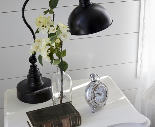 Farmhouse Bedroom Nightstand Decor Simple Farmhouse Bedroom Nightstand Decor Ideas Keep it simple when it comes to nightstand decor more is less #FarmhouseBedroom #NightstandDecor #FarmhouseNightstandDecor