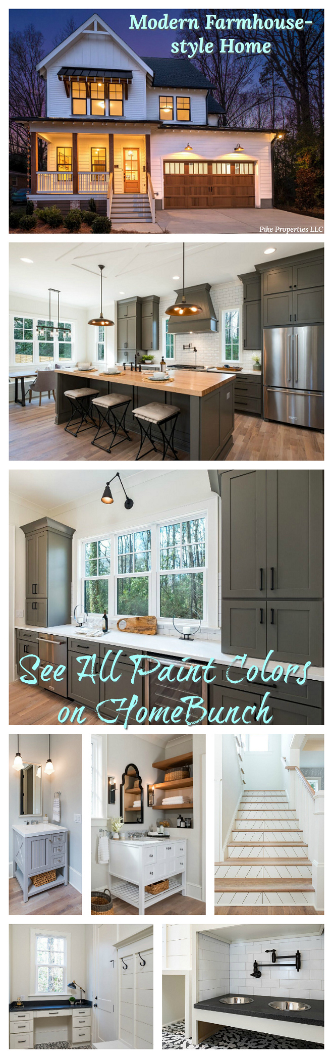 Interior Design Ideas Modern Farmhouse-style Home see paint colors on Home Bunch #InteriorDesignIdeas #ModernFarmhousestyle #ModernFarmhousestyleHome