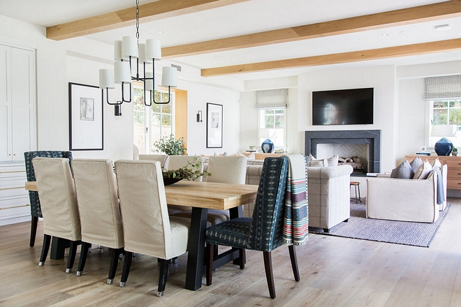 Kitchen dining room and family room features Rift Oak beams Kitchen dining room and family room features Rift Oak beams #Kitchen #diningroom #familyroom #RiftOakbeams
