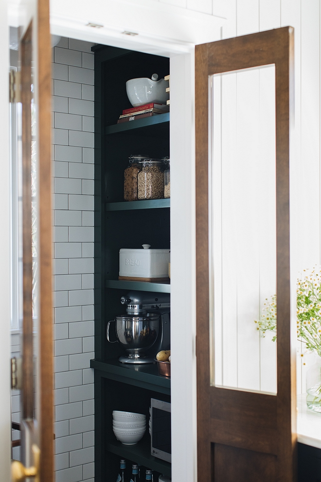 Small Pantry Small pantry Ideas The pantry is compact but perfect to store anything from food to small appliances #pantry #smallpantry
