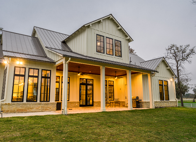 Modern Farmhouse Back Porch