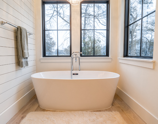 Alabaster by Sherwin Williams SW 7008 Shiplap Bathroom Alabaster by Sherwin Williams SW 7008 Alabaster by Sherwin Williams SW 7008 Paint Color #AlabasterSherwinWilliams #AlabasterSherwinWilliamsSW7008