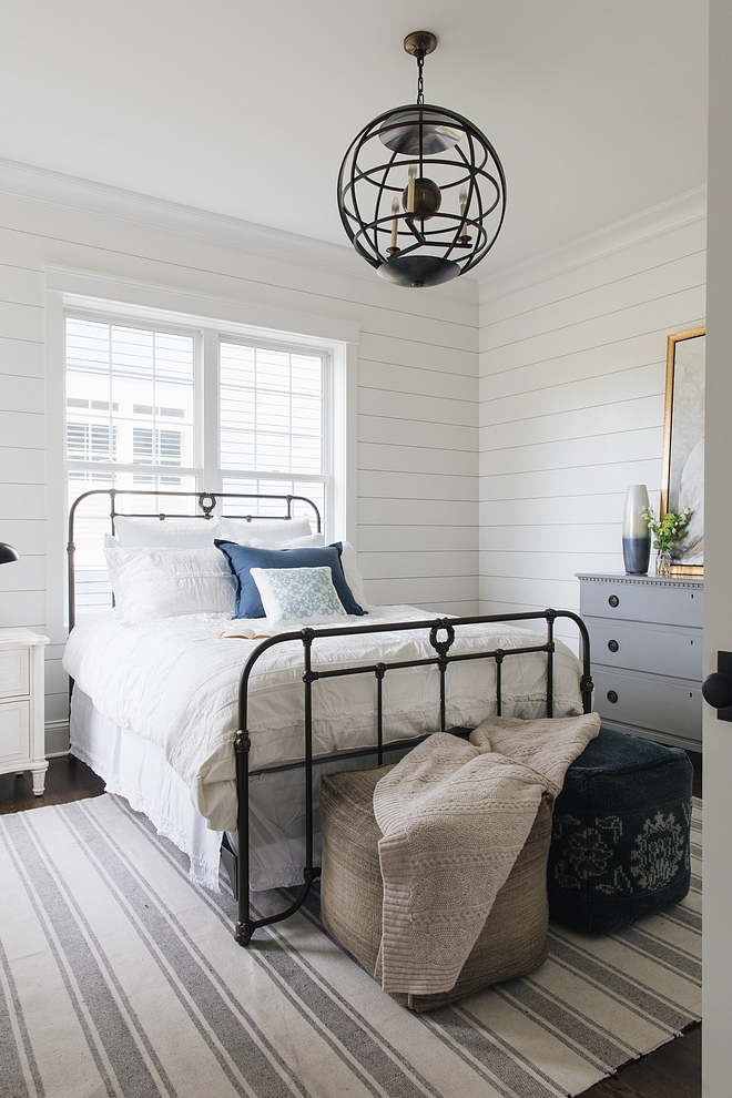 Benjamin Moore Simply White white shiplap wall paint color Benjamin Moore Simply White Benjamin Moore Simply White #BenjaminMooreSimplyWhite #paintcolor