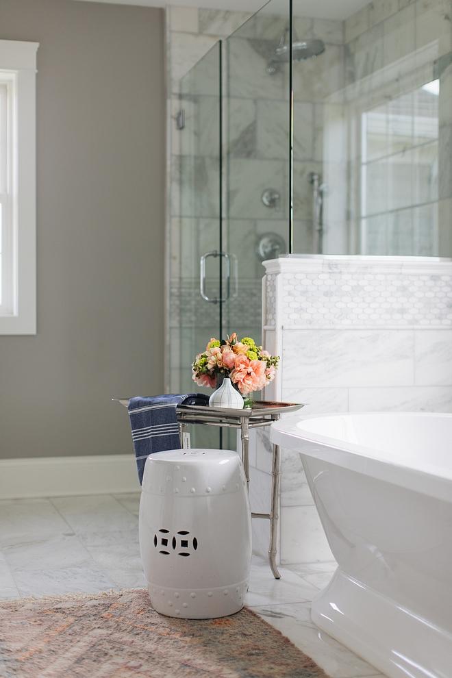 Bathroom decor how to decorate a bathroom Bathroom freestanding bath decor garden stool and an Tray table by Regina Andrew Bathroom Decor #Bathroomdecor