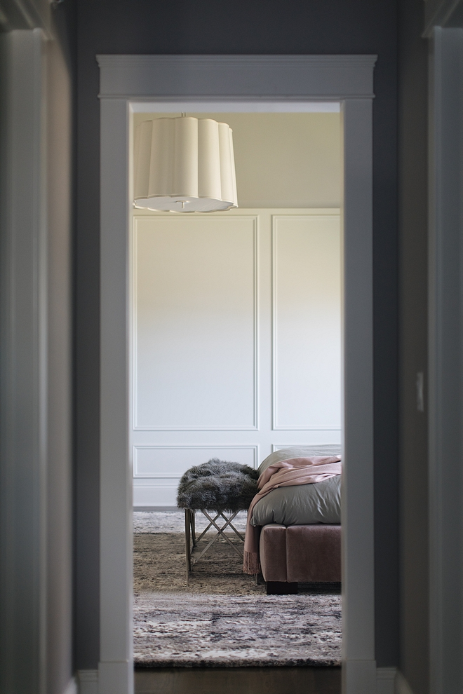 Simple Scallop Large Hanging Shade Bedroom lighting #bedroomlighting #lighting #bedroom