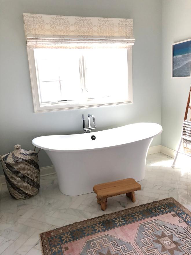Tub is Victoria and Albert Tub filler is Kohler Bathroom Choices #bathroom #Tub #Tubfiller
