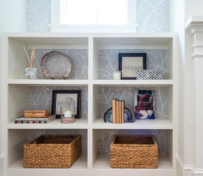 Wallpaper behind bookshelves Wallpaper behind bookshelf ideas Wallpaper behind bookshelves #Wallpaperbehindbookshelves #bookshelves #wallpaper