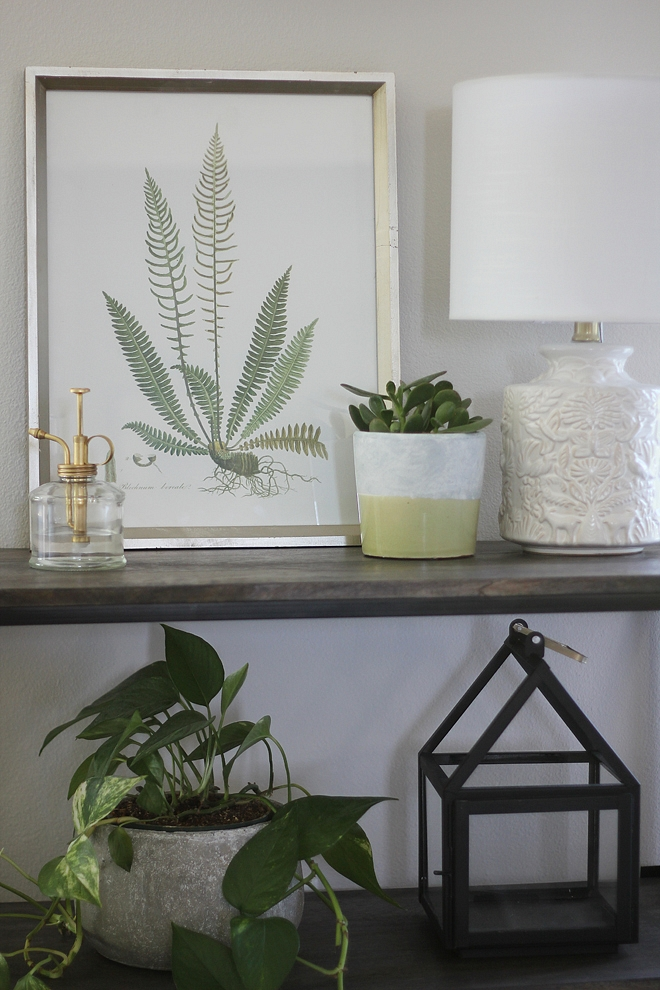 Console Decor natural and neutral console decor ideas with natural plants fern artwork neutral decor Console Table Decor #ConsoleDecor #Decor #neutralDecor #homeDecor