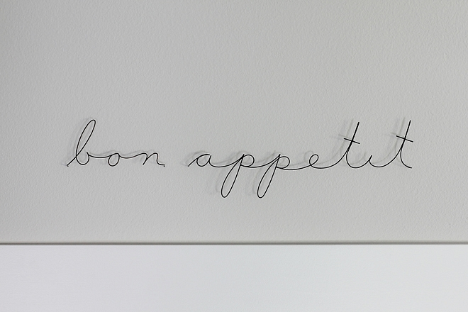 Bon Appetit Wire Art Kitchen wall art ideas Bon Appetit Wire Art #BonAppetit #wallArt