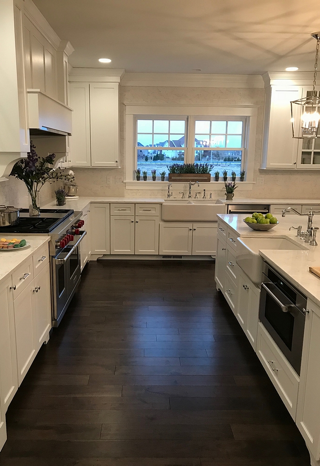 Island with built in microwave Kitchen island microwave Built in microwave in kitchen island The drawers/cabinets to the left of the large sink conceal waste and recycling bins #kicthenisland #builtinmicrowave