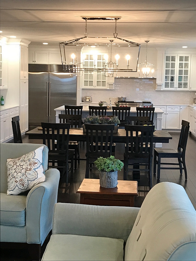 The kitchen opens to an inviting dining area and family room