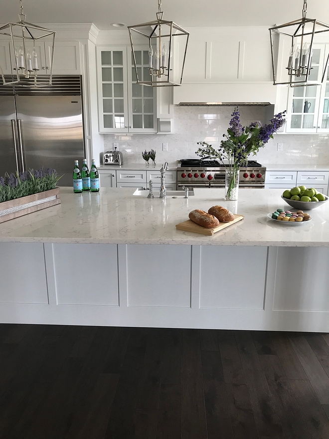 Kitchen Island The panels on the front of the island match the cabinet doors and the hood Kitchen Island design Kitchen Island #KitchenIsland