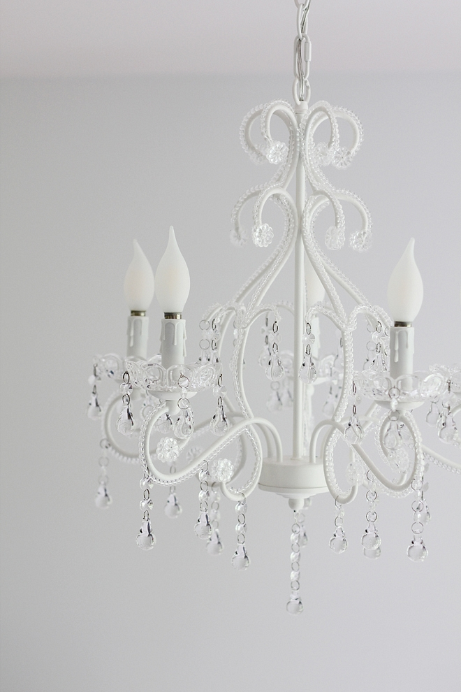 White Chandelier Affordable white chandelier with Crystals