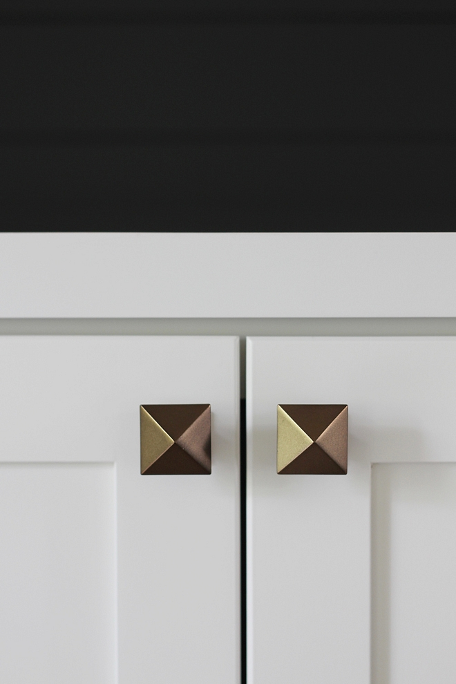 Pyramid Knob Hardware Knob ideas hardware ideas source on Home Bunch Pyramid knobs #knobs #cabinethardware #hardware