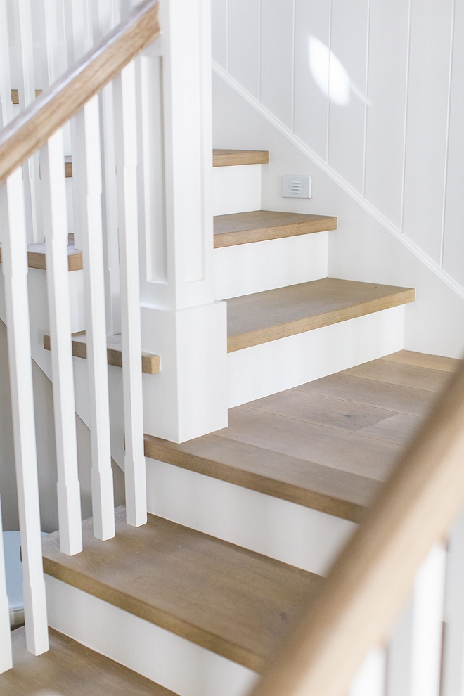 "Staircase Treads are 1"" thick solid white oak to match wood floor Staircase Treads are 1"" thick solid white oak to match wood floor Staircase Treads are 1"" thick solid white oak to match wood floor #StaircaseTreads #solidthreads #whiteoakthreads"