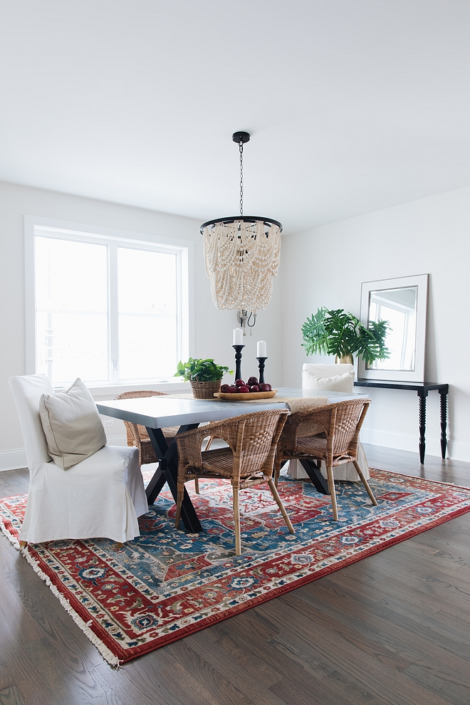Dining Room Rug Rug - Ralph Lauren from HomeGoods - was a score and I love the color it brings to the space Dining Room Rug #diningroomrug #diningroom #rug