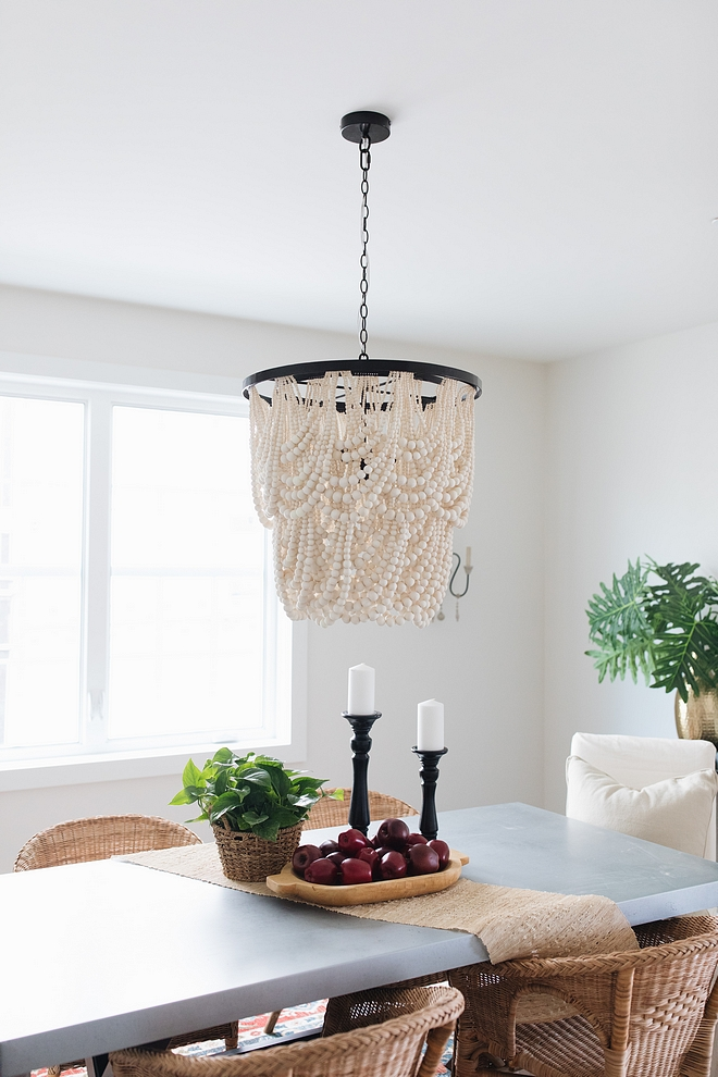 Beaded Chandelier Dining room with affordable Beaded Chandelier Beaded Chandelier sources #BeadedChandelier