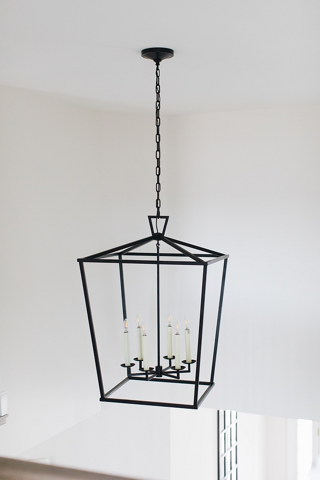 Light Fixture over Stairs - Visual Comfort Darlana in Iron #LightFixture #Stairs #VisualComfortDarlana #Iron