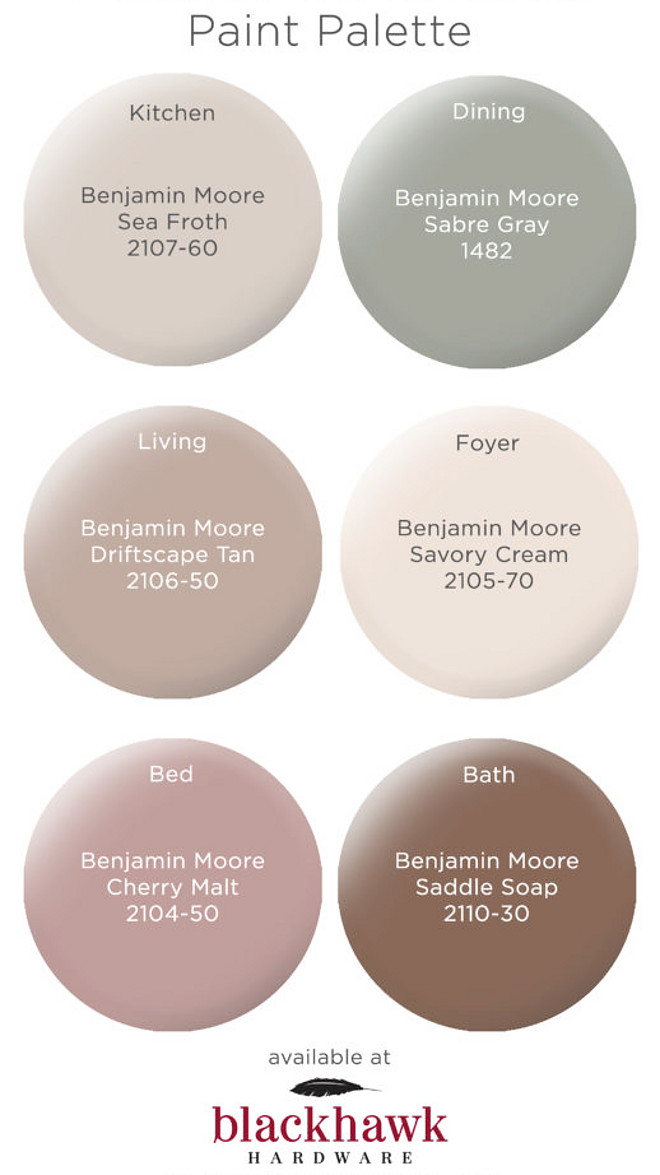 Warm Neutral Paint Colors Benjamin Moore Sea Froth, Benjamin Moore Sabre Gray, Benjamin Moore Driftscape Tan, Benjamin Moore Savory Cream, Benjamin Moore Cherry Malt, Benjamin Moore Saddle Soap Warm Neutral Paint Colors Warm Neutral Paint Colors #WarmPaintcolors #NeutralPaintColors