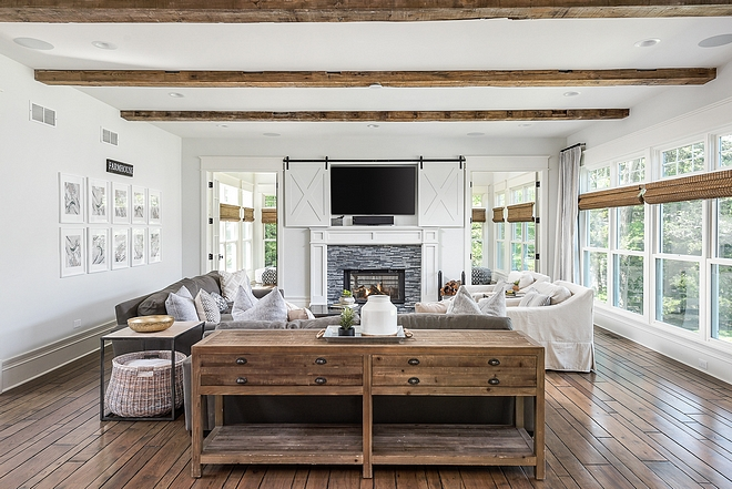 TV Barn Door Conceal Hiding TV behind sliding barn doors above fireplace TV Barn Door Conceal Hiding TV behind sliding barn doors above fireplace ideas #TVBarnDoor #HidingTV #Tvslidingbarndoors #fireplace