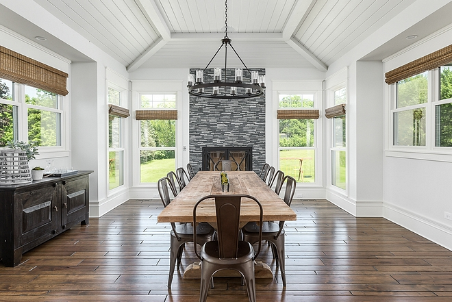 Dining room Fireplace Dining room Fireplace surrounded by windows Dining room Fireplace Dining room Fireplace Dining room Fireplace #DiningroomFireplace #Diningroom #Fireplace