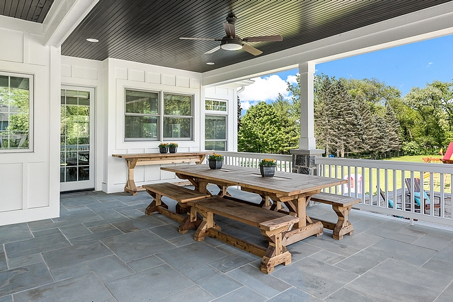 Back porch flooring is Bluestone