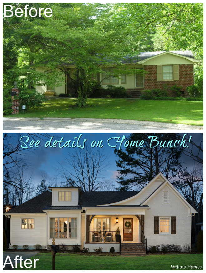 "Before and After Small Farmhouse-Style Home Renovation This project was a remodel that took about nine months to plan, design and renovate. This ""small farmhouse"" - it is a one-story home - won Best in Show in its price point category at the 2018 Alabama Remodel Excellence Awards, which is a statewide remodeling competition with over 100 entries #beforeandafter #homerenovation #reno #remodel #renovation"