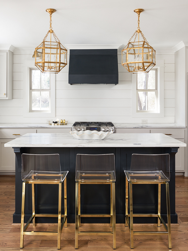 Blue Black by Farrow and Ball Dark island paint color Blue Black by Farrow and Ball Kitchen island an hood paint color Blue Black by Farrow and Ball #BlueBlackbyFarrowandBall