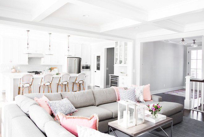 Foyer opens to family room and kitchen Foyer opens to family room and kitchen design ideas Foyer opens to family room and kitchen and breakfast room #Foyer #familyroom #kitchen