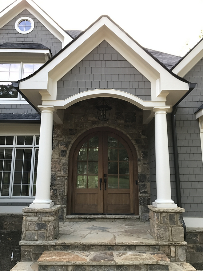 Stained Mahogany front door Door is glass with Stained Mahogany #frontdoor #door #StainedMahoganydoor #Mahoganydoor #Staineddoor