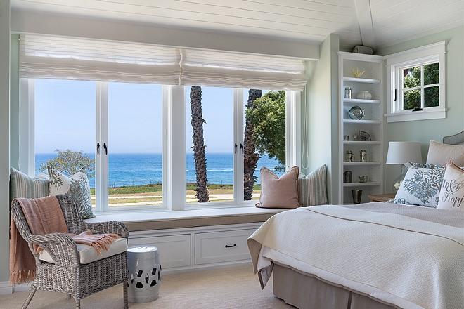 Bedroom window seat Bedroom window seat flanked by bookshelves #bedroom #windowseat #windowseatbookshelves