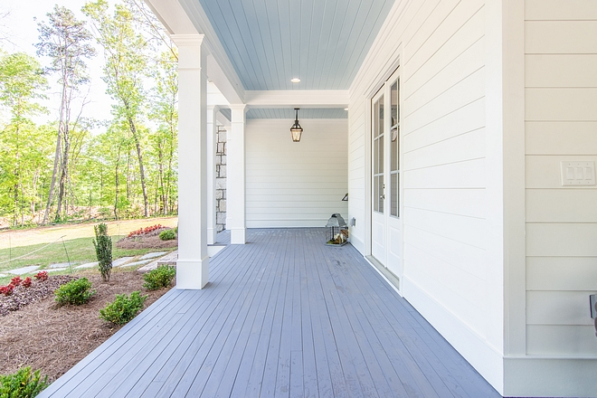 Sherwin Williams Blue Denim Sherwin Williams Blue Porch Flooring Tongue and Groove KDAT Stain color Denim Sherwin Williams Blue Denim #SherwinWilliamsBlueDenim