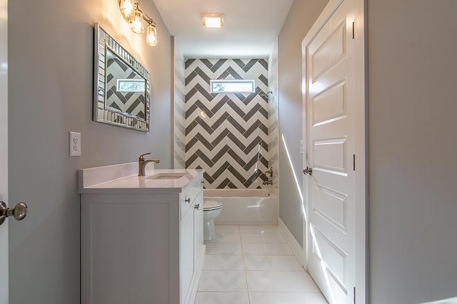 Shower Tile Ideas Herringbone white and herringbone grey shower tile design Cheap ideas with shower tile #showertile