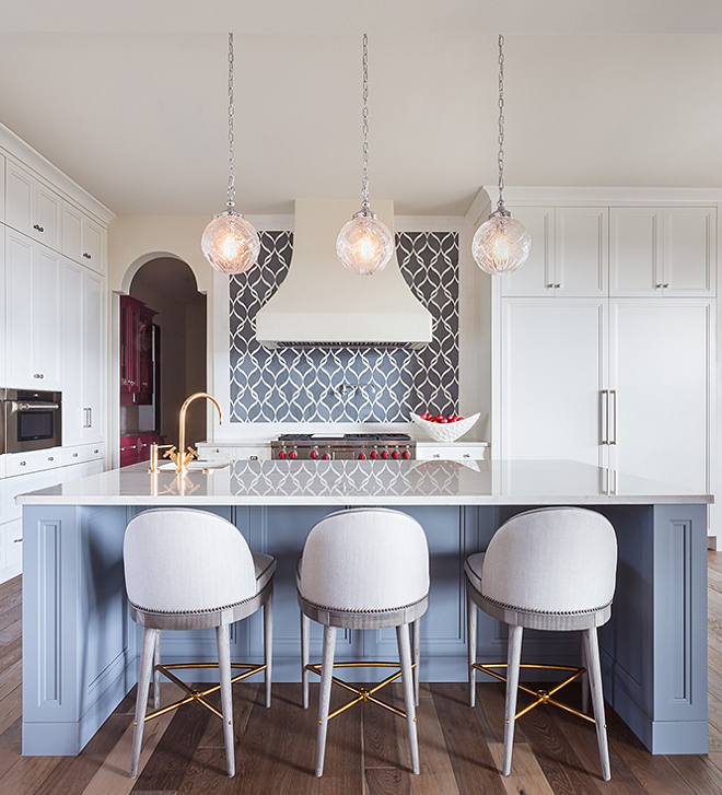 Aleutian by Sherwin Williams Blue kitchen island paint color Aleutian by Sherwin Williams Aleutian by Sherwin Williams #AleutianbySherwinWilliams