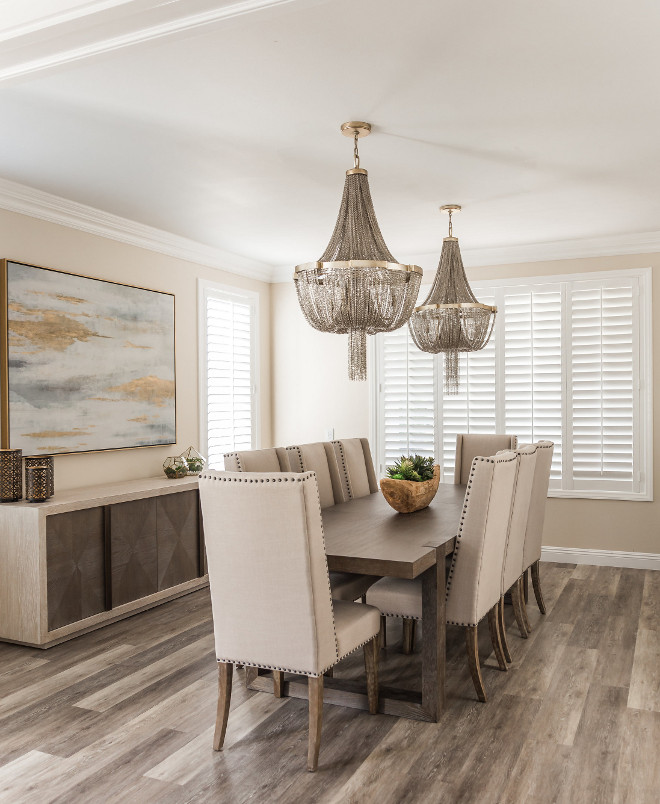 Dining room with two chandeliers Beautiful Dining room with two chandeliers #Diningroomchandeliers
