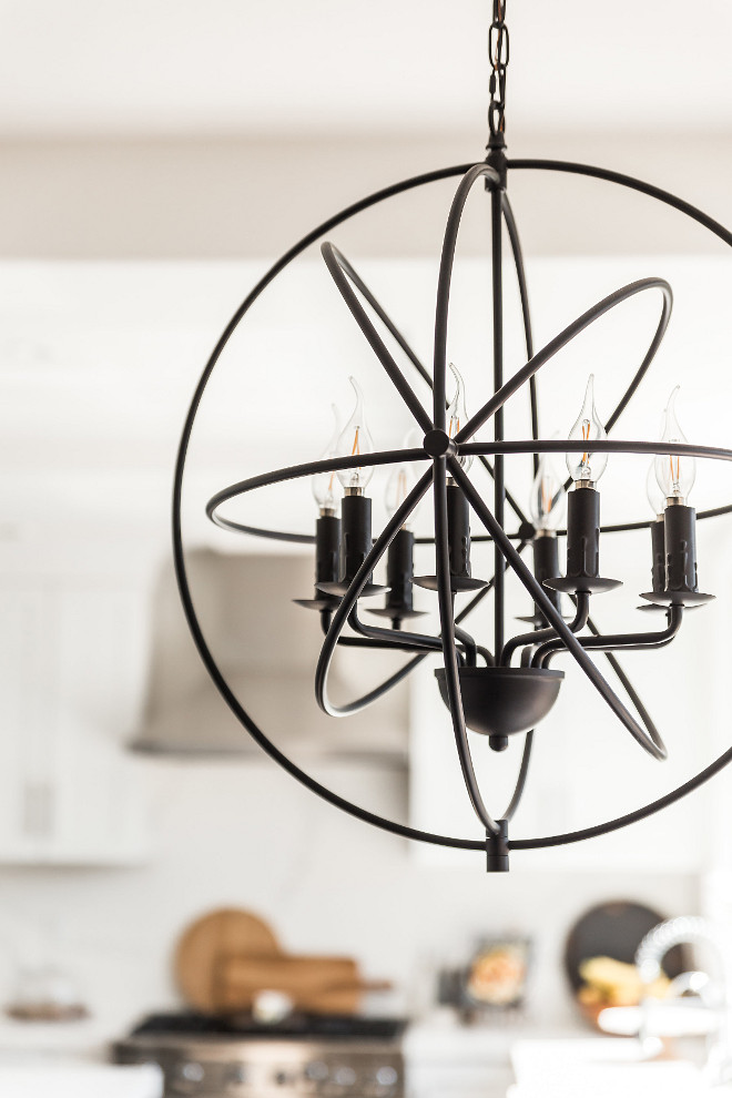 Orb Chandelier Orb Chandelier The orb lighting is my favorite lighting in the kitchen hanging over the kitchen table Orb Chandelier #OrbChandelier