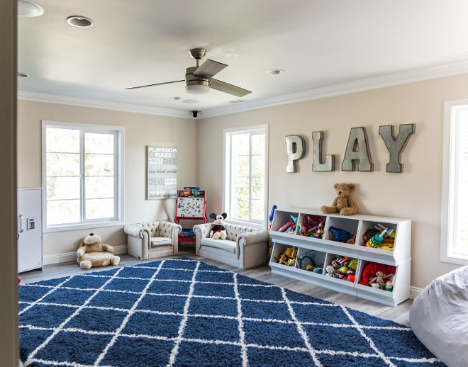 Playroom Paint Color Dunn Edwards Bone Dunn Edwards Bone #Playroom #PaintColor