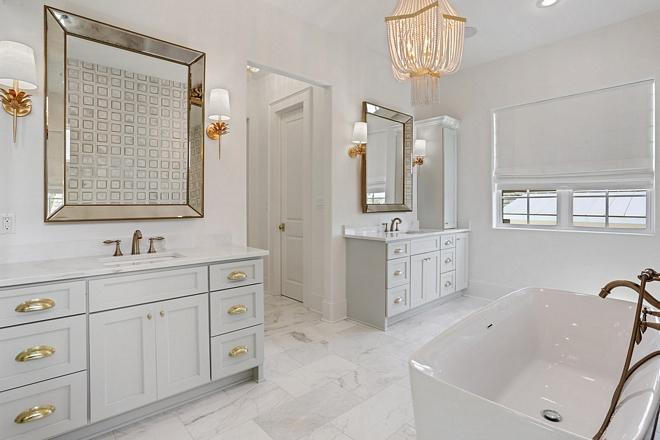Oystershell by Benjamin Moore Oystershell by Benjamin Moore bathroom vanity paint color grey cabinets Oystershell by Benjamin Moore #OystershellBenjaminMoore #paintcolor #Benjamin Moore