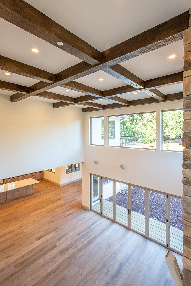 Faux wood-beams in box beam orientation Ceiling treatment is faux wood-beams in box beam orientation #fauxwoodbeams #woodbeams #boxbeam