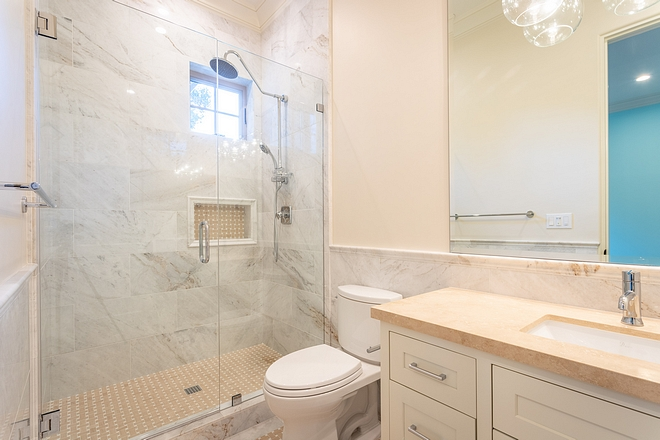 Neutral Bathroom Neutral Guest Bathroom Ideas Neutral Bathroom Design #NeutralBathroom