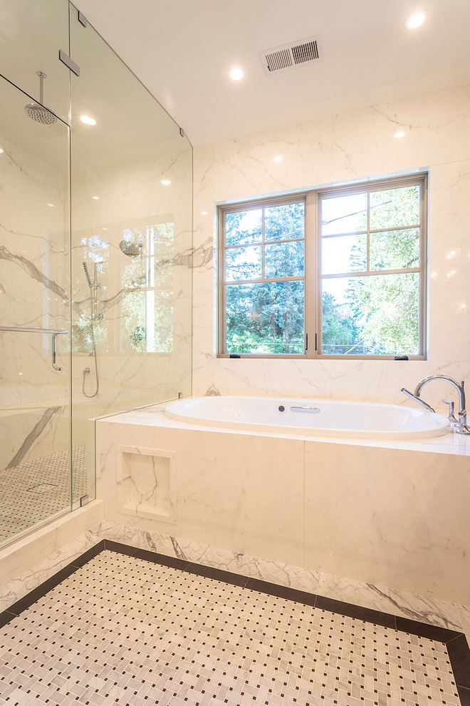 Tile Bathroom Tile This is a tile combination that you might want to save or pin, especially if you're planning on building or renovate your bathroom #bathroom #tile #bathrootile