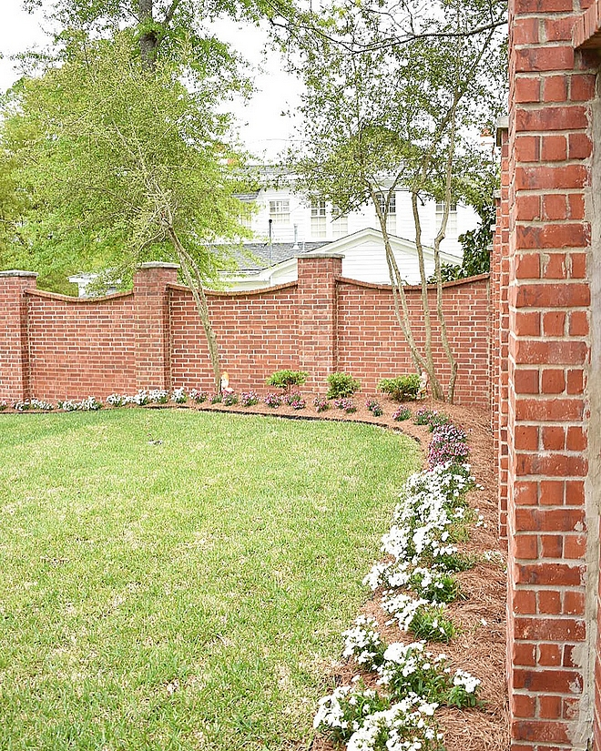 Brick Fence Charming and timeless brick fence design Brick Fence Brick Fence Brick Fence Brick Fence #BrickFence