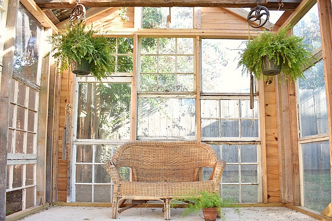 Salvage Greenhouse Ideas Greenhouse made out of salvage windows This is how the greenhouse looks on the inside #greenhouse #salvagewindows #windows