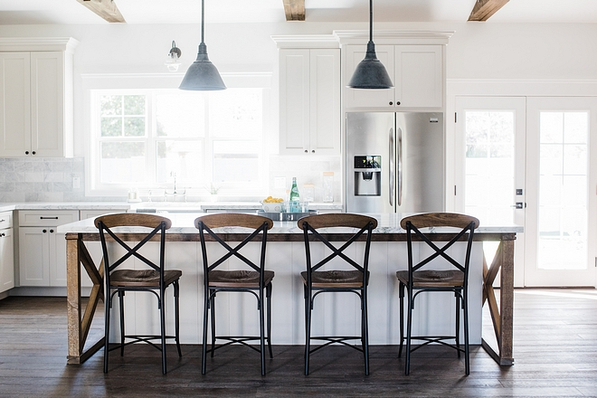 Barnwood kitchen Barnwood kitchen Barnwood kitchen island Island with x barnwood and shiplap #Barnwoodkitchen #Barnwoodkitchenisland