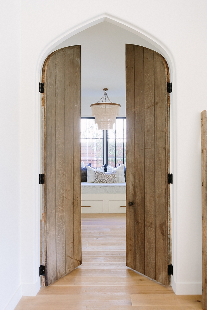 Arched vintage doors Add Old vintage doors in a new home to add patina Arched vintage doo ideas #Archedvintagedoors #vintagedoors
