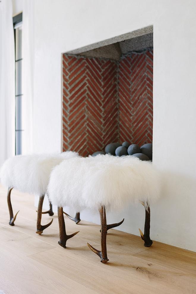Mongolian stool Real Mongolian Lamb Stool #mongolian #fur #stool