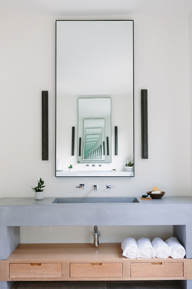 Concrete Bathroom Vanity Minimalist Concrete Bathroom Vanity Concrete Bathroom Vanity Concrete Bathroom Vanity Design #ConcreteBathroomVanity #ConcreteVanity #BathroomVanity