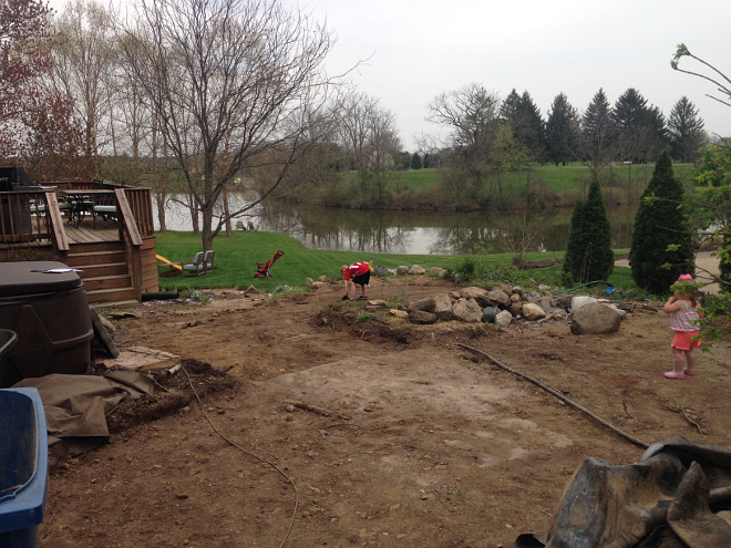 During Patio Renovation - see results on Home Bunch blog